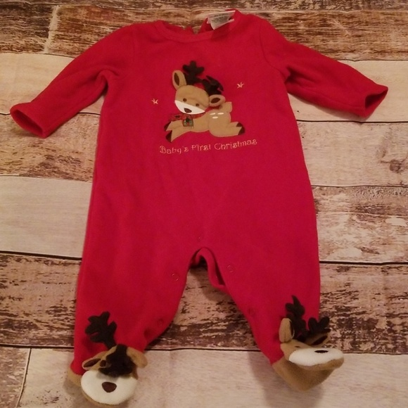 Decorated Originals Pajamas | Babys First Christmas | Poshmark